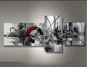 Tableau triptyque design tableau deco ejrac - Tableaux tryptiques contemporains ...